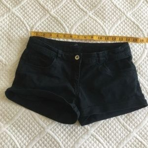 H&M Shorts Black Denim Women's Size 6